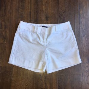 The limited size 4 white dress shorts